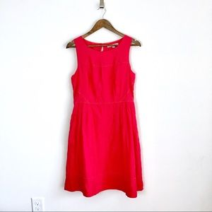 Boden Red Zoe Fit & Flare Dress, Size 8